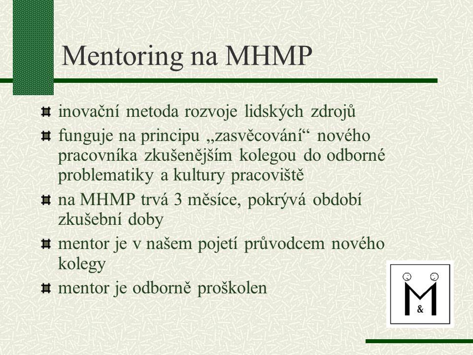 Mentoring na MHMP inovační metoda rozvoje lidských zdrojů