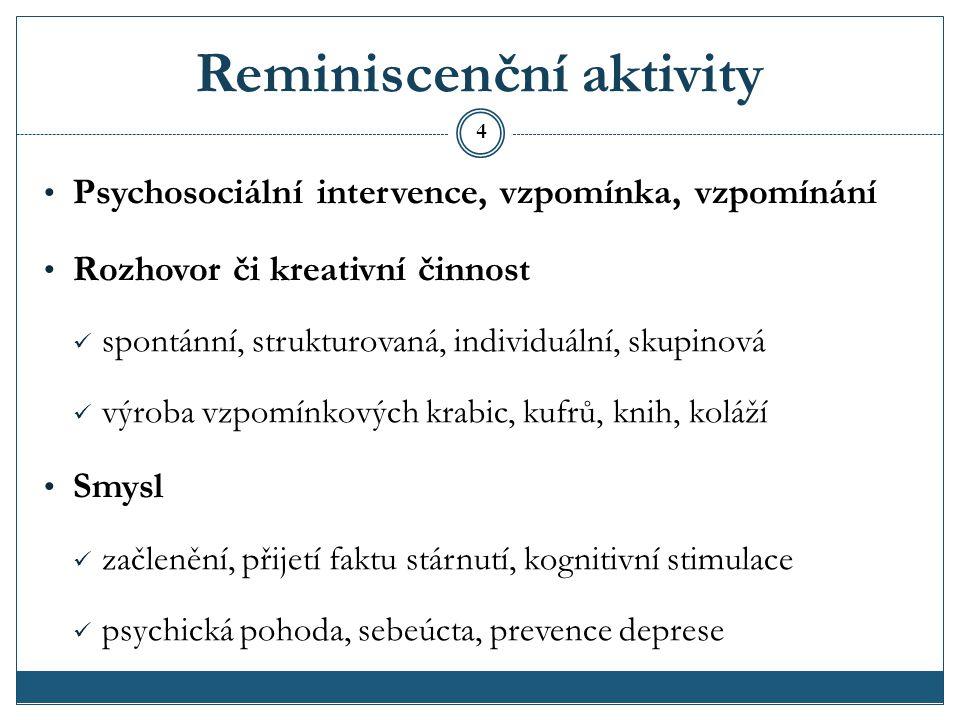 Reminiscenční aktivity