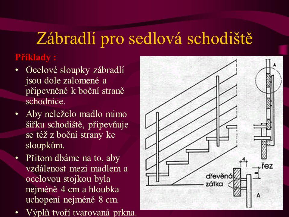 Zábradlí pro sedlová schodiště