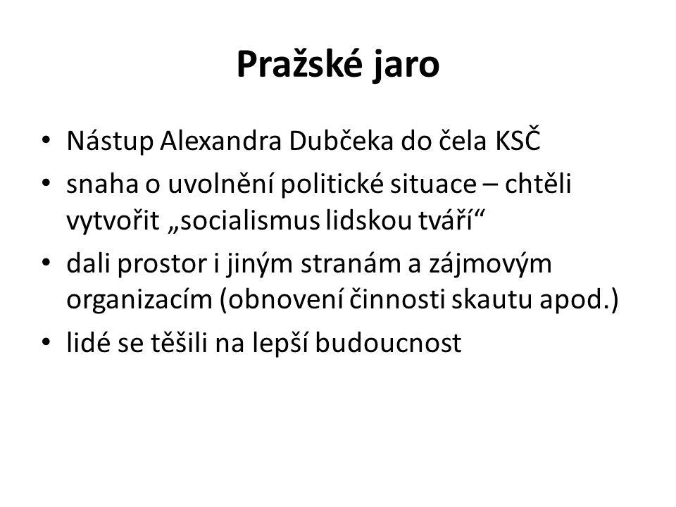 Pražské jaro Nástup Alexandra Dubčeka do čela KSČ