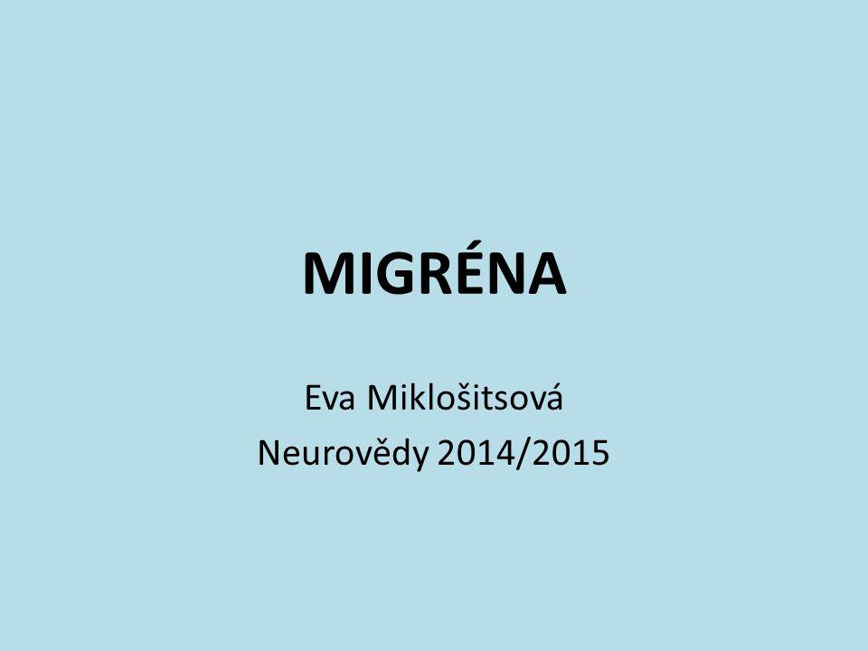 Eva Miklošitsová Neurovědy 2014/2015