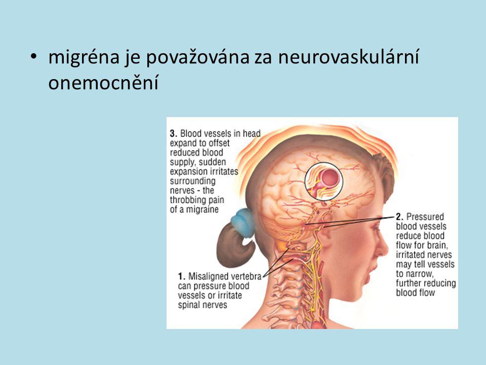 migréna je považována za neurovaskulární onemocnění
