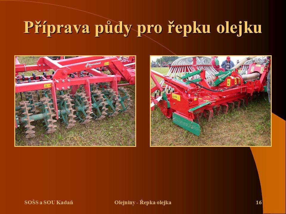 Příprava půdy pro řepku olejku Olejniny - Řepka olejka
