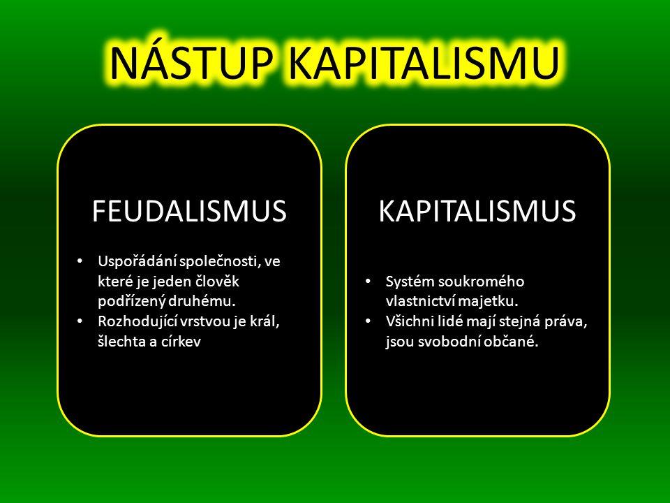 NÁSTUP KAPITALISMU FEUDALISMUS KAPITALISMUS