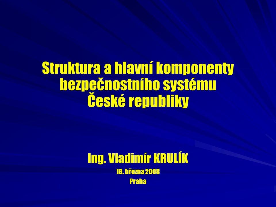 Struktura a hlavní komponenty bezpečnostního systému České republiky
