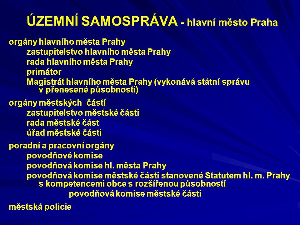 ÚZEMNÍ SAMOSPRÁVA - hlavní město Praha