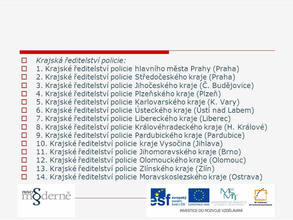 Krajská ředitelství policie: