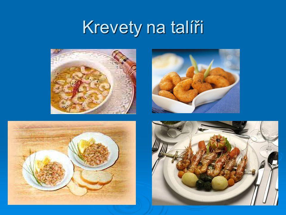 Krevety na talíři