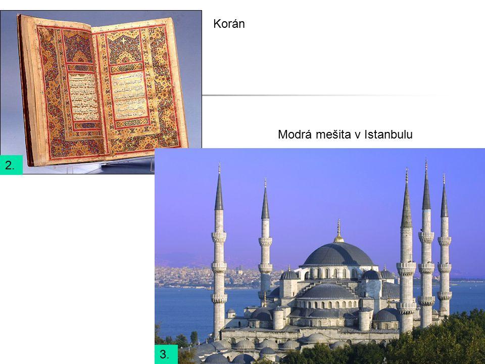 Korán Modrá mešita v Istanbulu 2. 3.