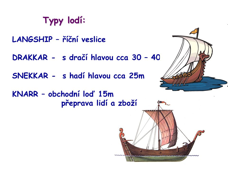 Typy lodí: LANGSHIP – říční veslice