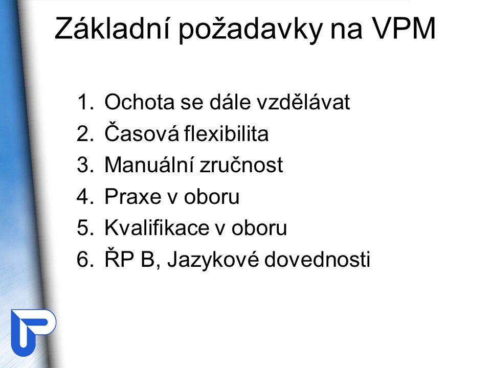 Základní požadavky na VPM