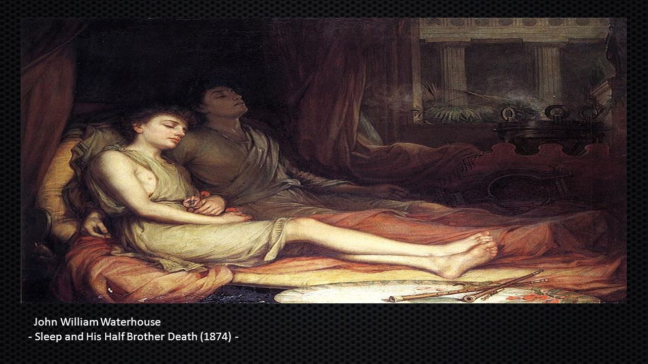 John William Waterhouse - Sleep and His Half Brother Death (1874) -