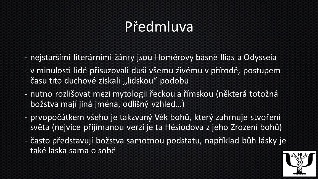 Předmluva nejstaršími literárními žánry jsou Homérovy básně Ilias a Odysseia.
