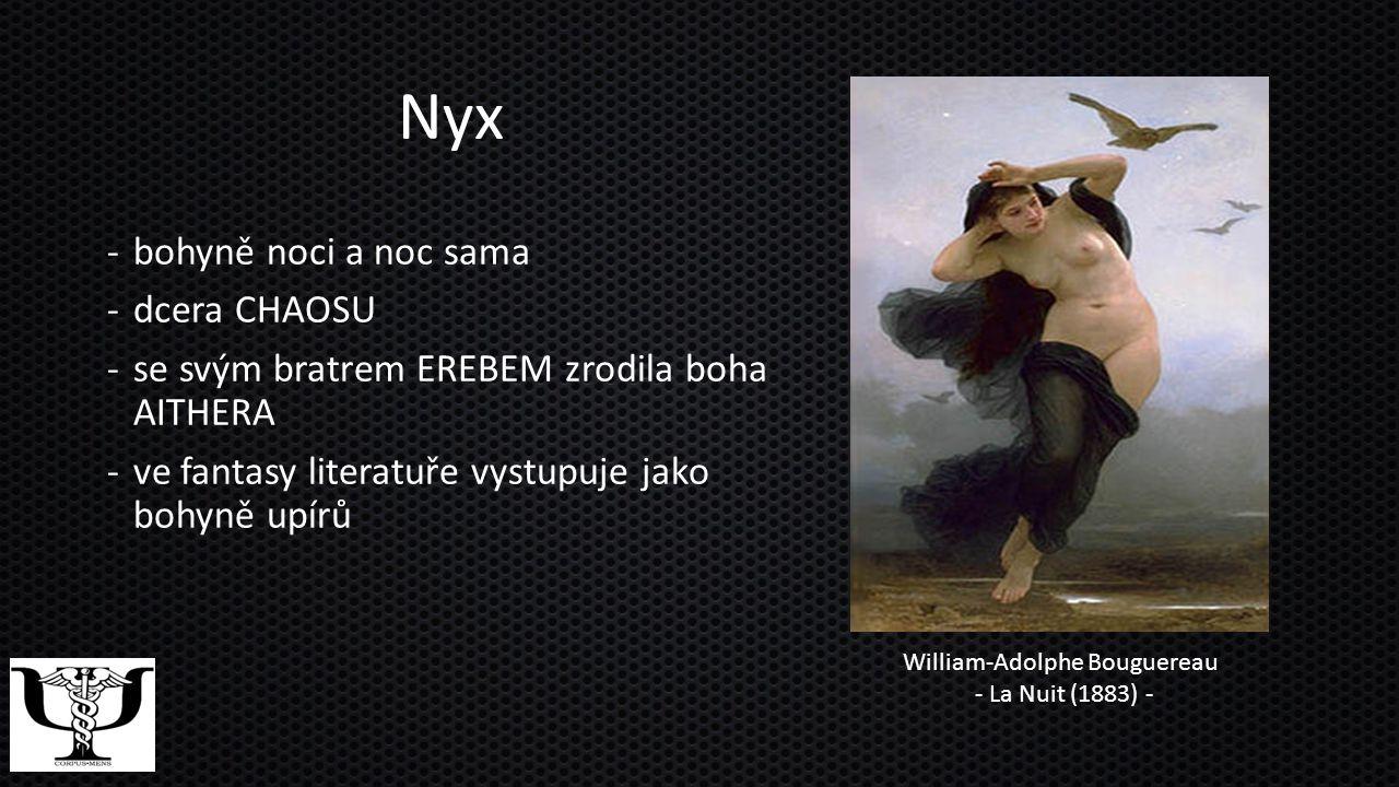 Nyx bohyně noci a noc sama dcera CHAOSU