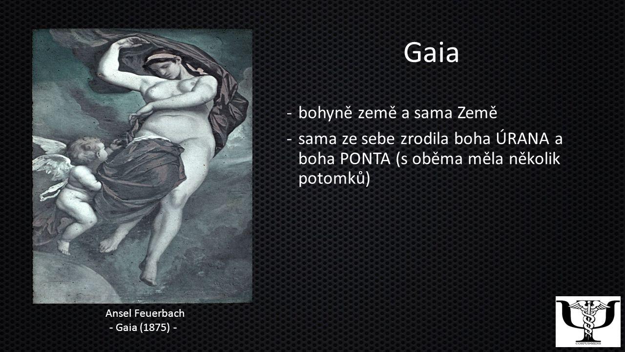 Gaia bohyně země a sama Země