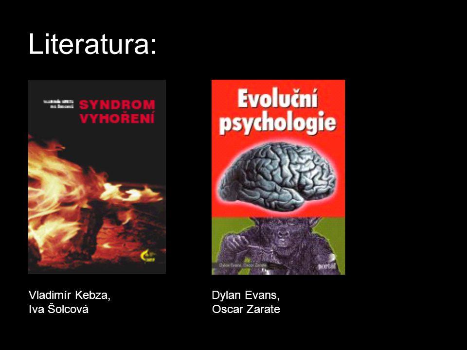 Literatura: Vladimír Kebza, Dylan Evans, Iva Šolcová Oscar Zarate.