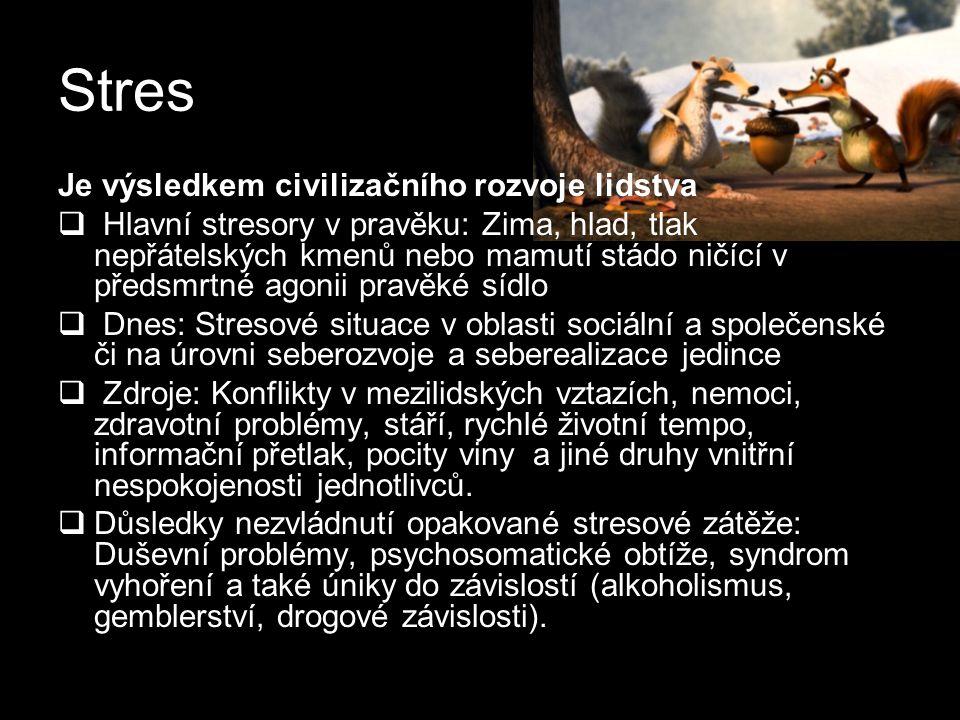 Stres Je výsledkem civilizačního rozvoje lidstva