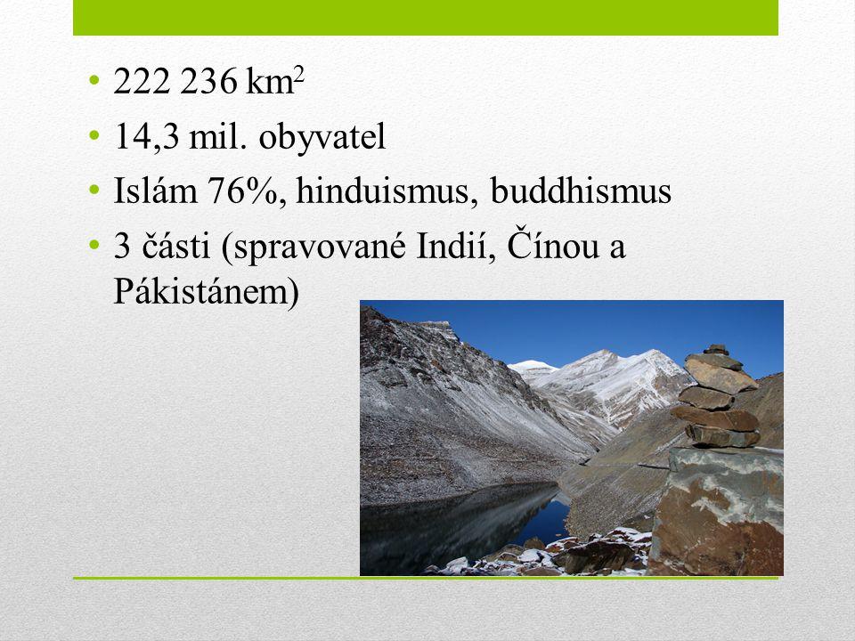 222 236 km2 14,3 mil. obyvatel. Islám 76%, hinduismus, buddhismus.