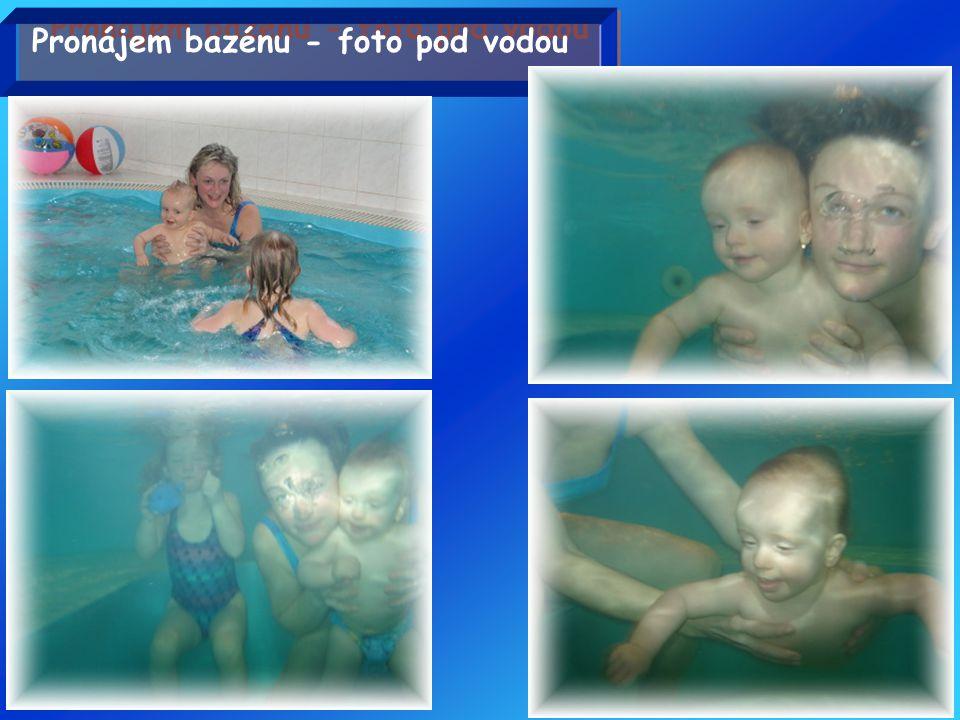 Pronájem bazénu - foto pod vodou