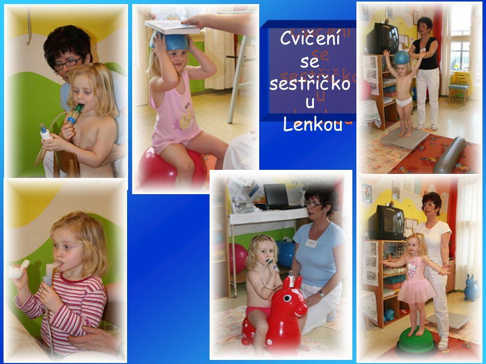 Cvičení se sestřičkou Lenkou
