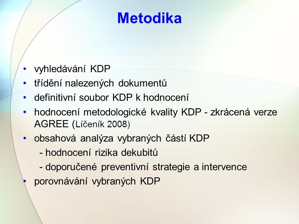 Metodika vyhledávání KDP třídění nalezených dokumentů