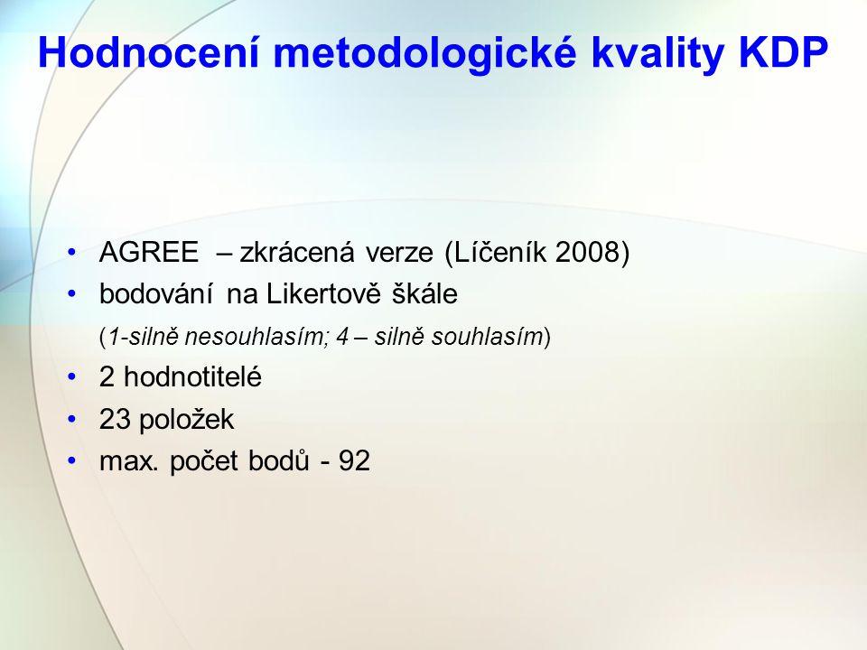 Hodnocení metodologické kvality KDP