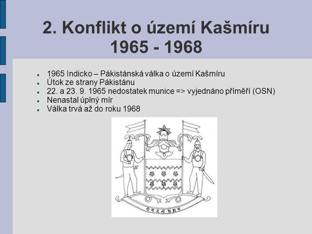 2. Konflikt o území Kašmíru 1965 - 1968