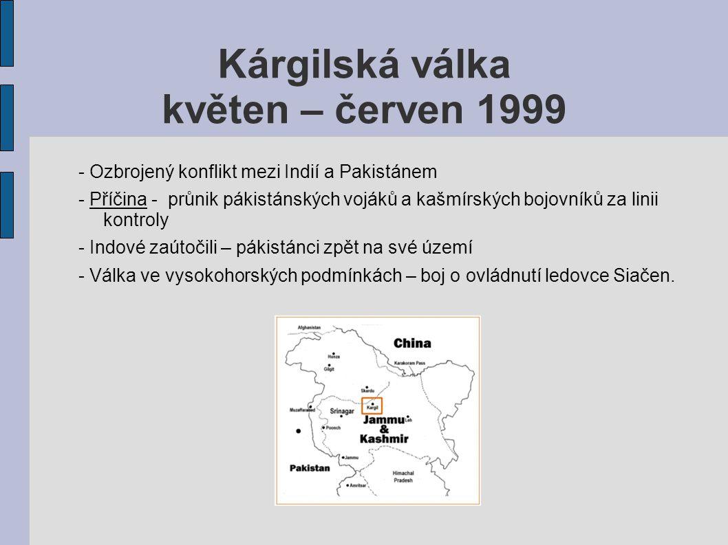 Kárgilská válka květen – červen 1999