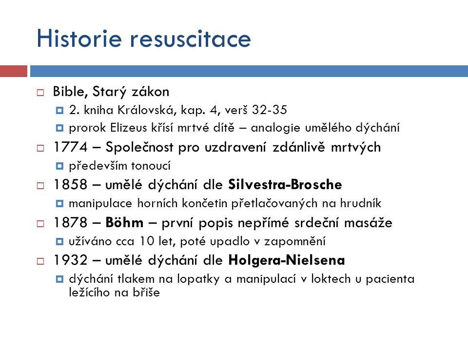 Historie resuscitace Bible, Starý zákon