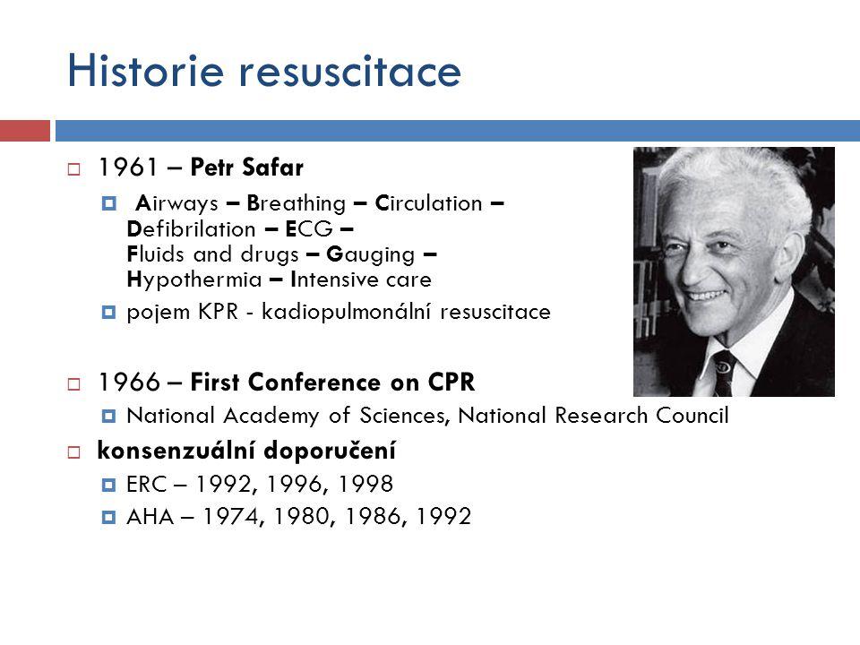 Historie resuscitace 1961 – Petr Safar