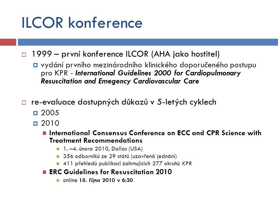 ILCOR konference 1999 – první konference ILCOR (AHA jako hostitel)
