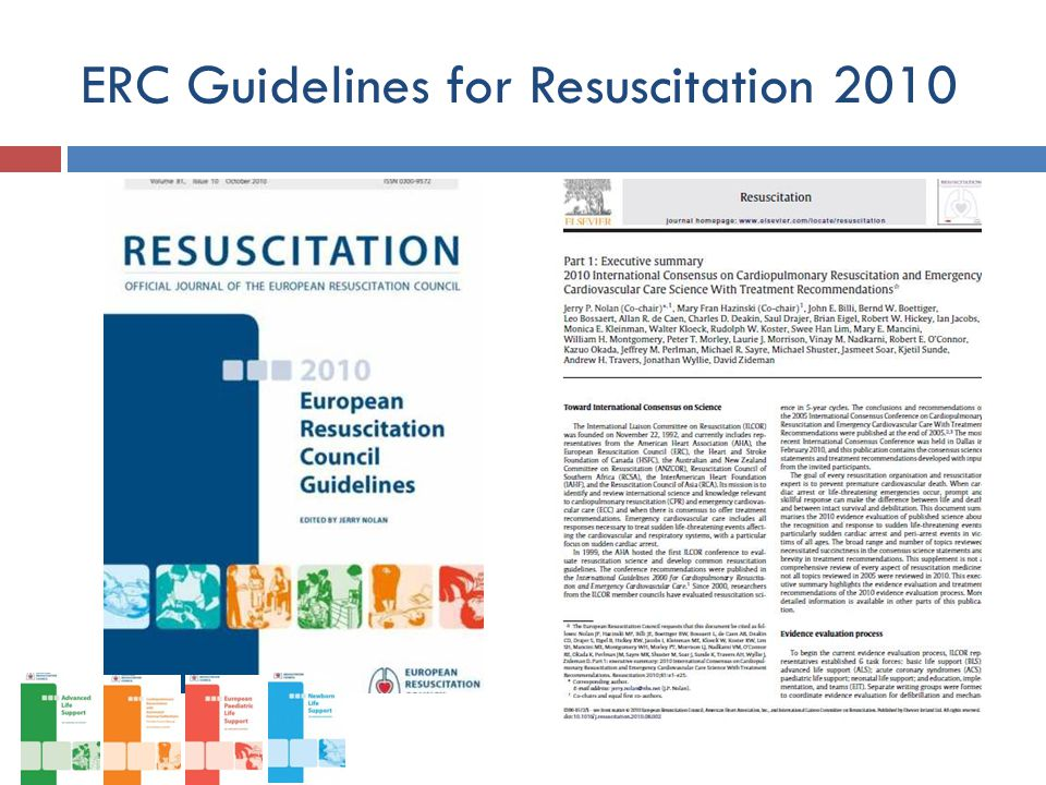 ERC Guidelines for Resuscitation 2010