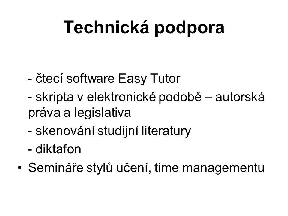 Technická podpora - čtecí software Easy Tutor