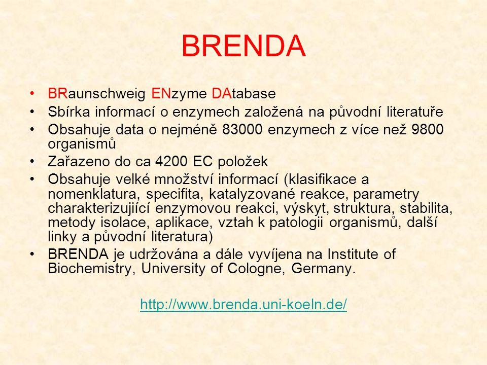 BRENDA BRaunschweig ENzyme DAtabase