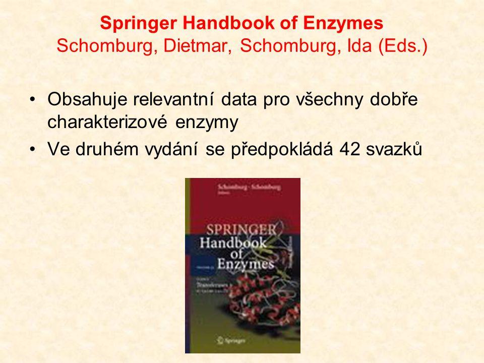 Springer Handbook of Enzymes Schomburg, Dietmar, Schomburg, Ida (Eds.)