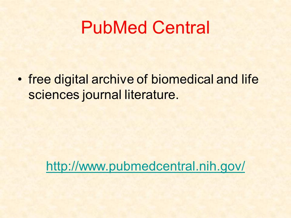 PubMed Central free digital archive of biomedical and life sciences journal literature.