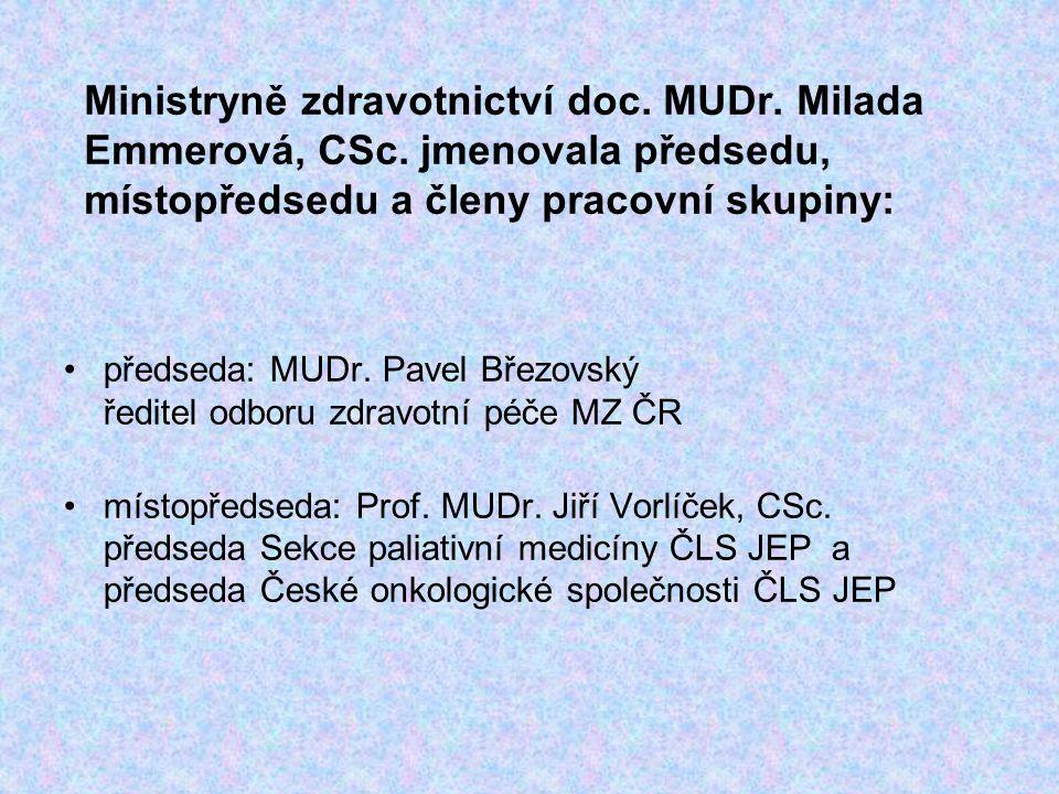 Ministryně zdravotnictví doc. MUDr. Milada Emmerová, CSc