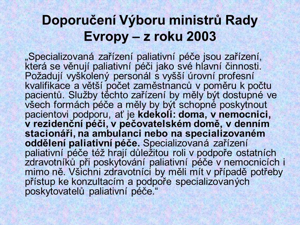 Doporučení Výboru ministrů Rady Evropy – z roku 2003