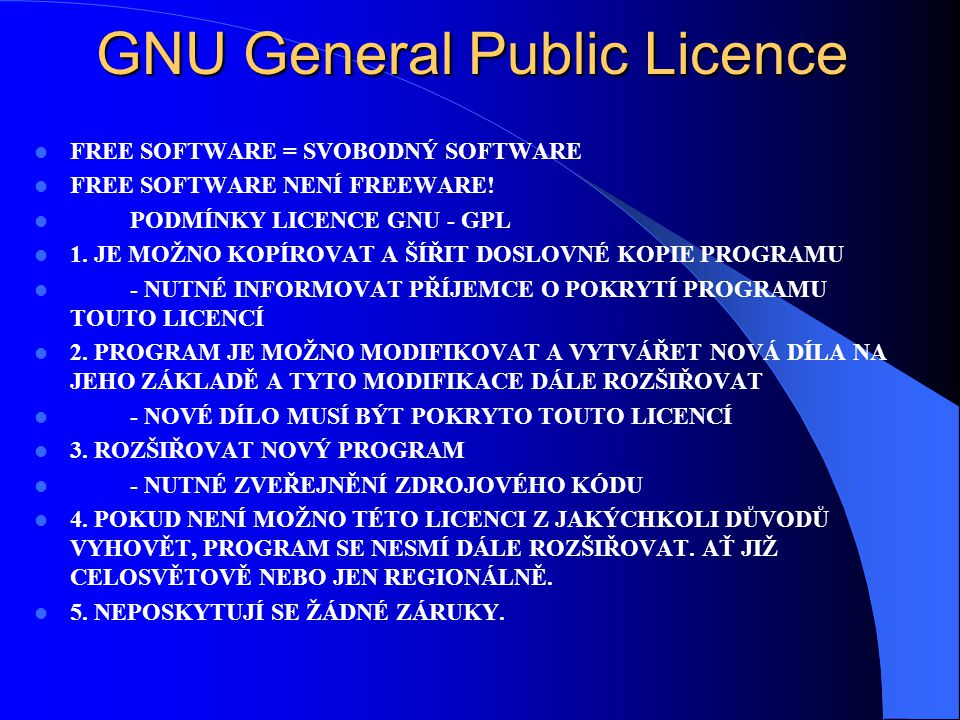 GNU General Public Licence