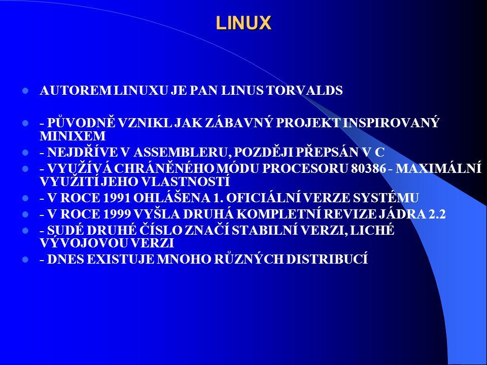 LINUX AUTOREM LINUXU JE PAN LINUS TORVALDS