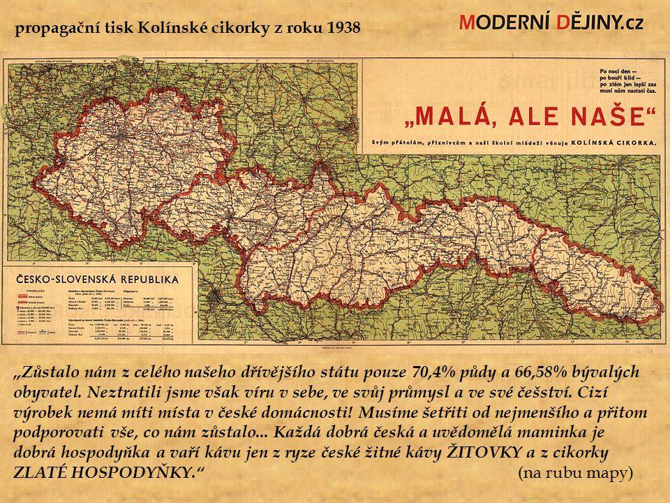 propagační tisk Kolínské cikorky z roku 1938