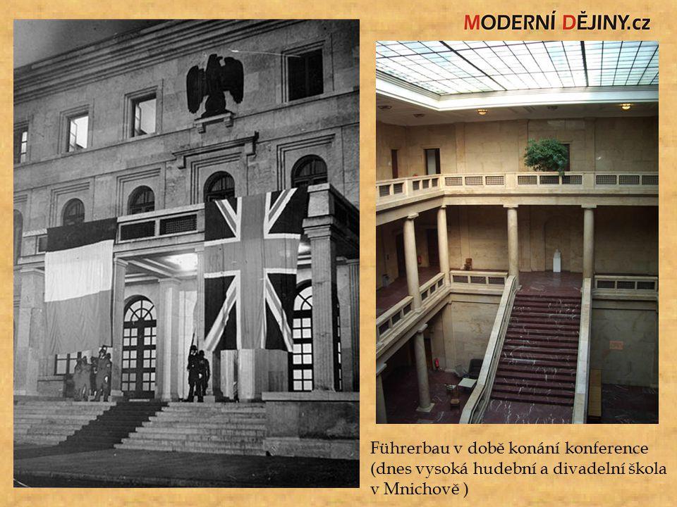 Führerbau v době konání konference (dnes vysoká hudební a divadelní škola v Mnichově )
