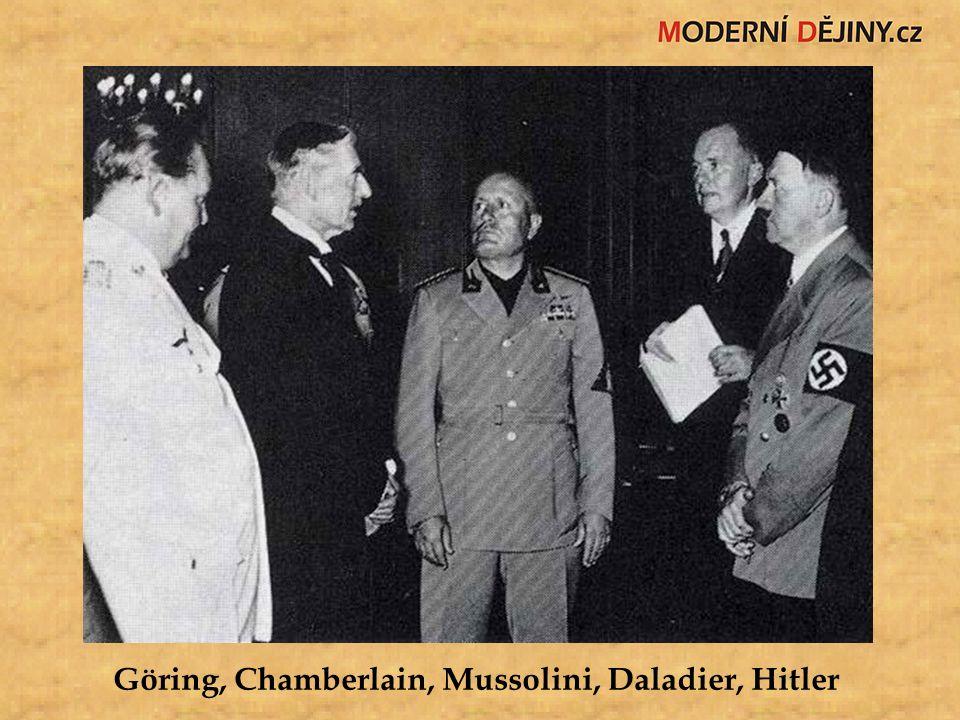 Göring, Chamberlain, Mussolini, Daladier, Hitler