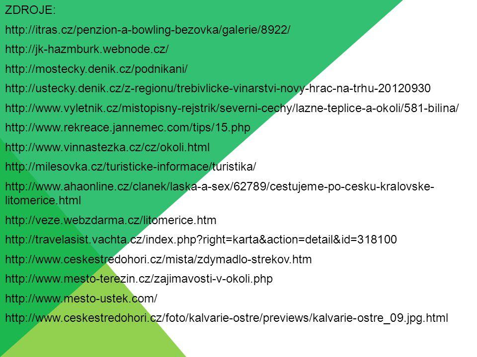 ZDROJE: http://itras.cz/penzion-a-bowling-bezovka/galerie/8922/ http://jk-hazmburk.webnode.cz/ http://mostecky.denik.cz/podnikani/