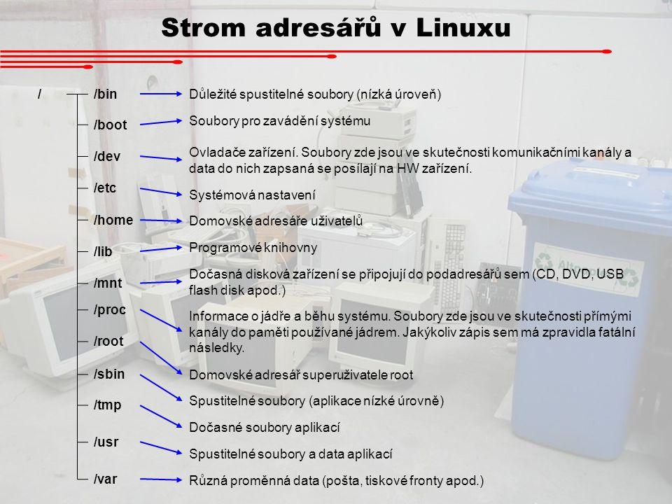 Strom adresářů v Linuxu