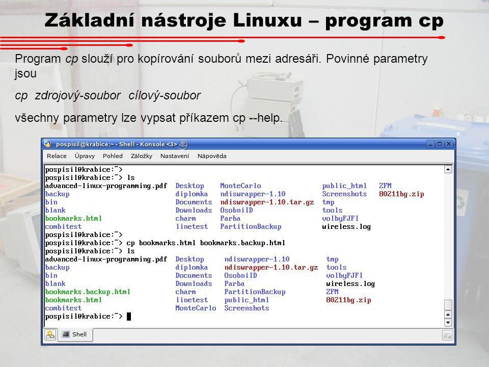 Základní nástroje Linuxu – program cp