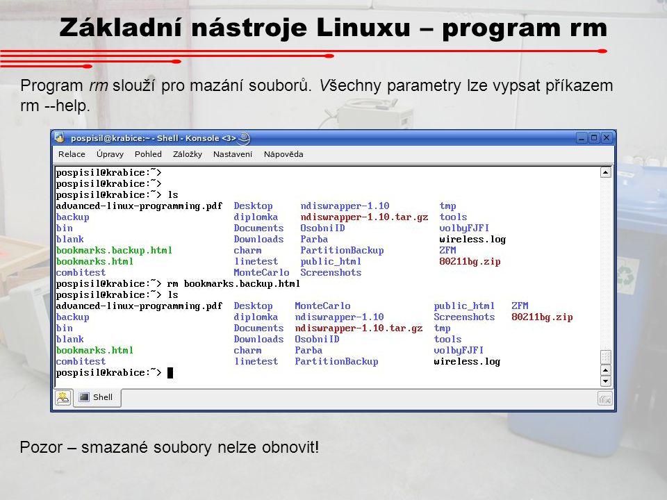 Základní nástroje Linuxu – program rm