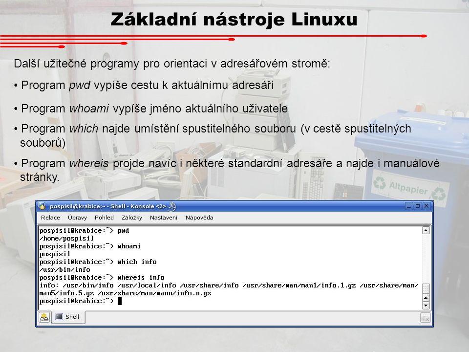 Základní nástroje Linuxu