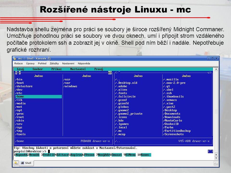 Rozšířené nástroje Linuxu - mc