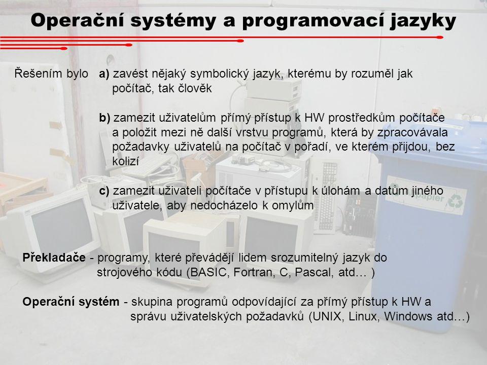 Operační systémy a programovací jazyky